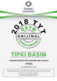 2018 TYT Tıpkı Basım