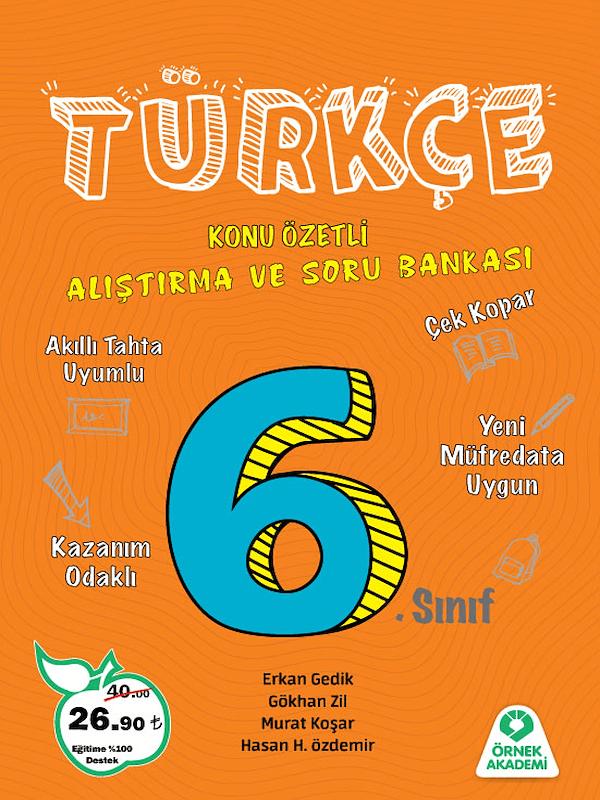 6.Sınıf Türkçe Alıştırma ve Soru Bankası